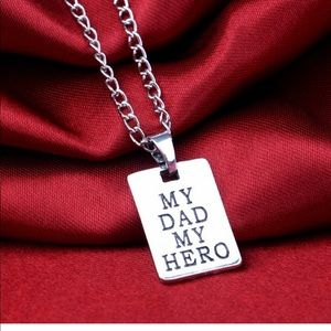 """Other - Super Cute Tag """" My Dad My Hero""""  Necklace"""